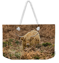 Longhorn On Dartmoor Weekender Tote Bag