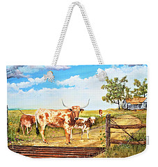 Longhorn Stand Off Your Place Or Mine Weekender Tote Bag
