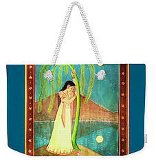 Weekender Tote Bag featuring the painting Longing For Her Love by Ananda Vdovic