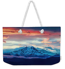 Longs Peak At Sunset Weekender Tote Bag