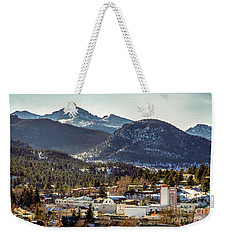 Longs Peak From Estes Park Weekender Tote Bag