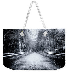 Weekender Tote Bag featuring the photograph Lonliness Highway by Spencer McDonald