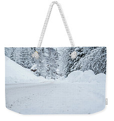 Weekender Tote Bag featuring the photograph Lonly Road- by JD Mims