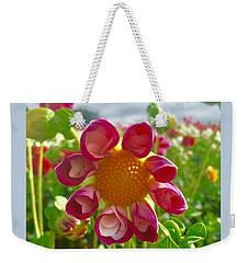 Look At Me Dahlia Weekender Tote Bag by Susan Garren