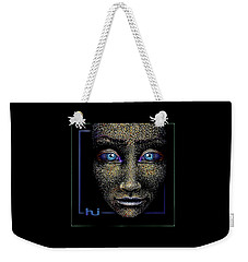 Weekender Tote Bag featuring the painting Look  Close . . . by Hartmut Jager
