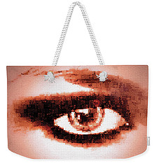 Look Into My Eye Weekender Tote Bag by Paula Ayers