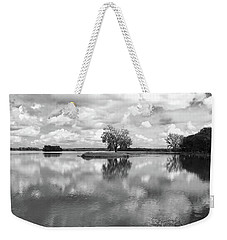 Looking Across J. C. Murphy Lake Weekender Tote Bag