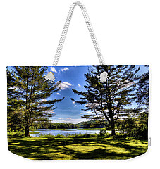 Looking At The Moose River Weekender Tote Bag by David Patterson