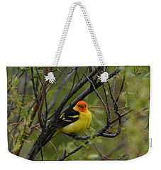 Looking At You - Western Tanager Weekender Tote Bag
