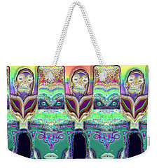 Weekender Tote Bag featuring the digital art Looking At You by Ron Bissett