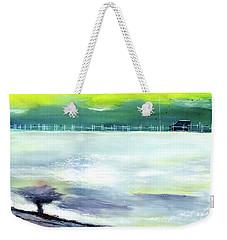 Weekender Tote Bag featuring the painting Looking Beyond by Anil Nene