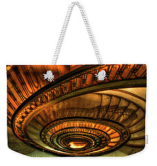 Weekender Tote Bag featuring the photograph Looking Down The Ponce Spiral Staircase Atlanta Georgia Art by Reid Callaway