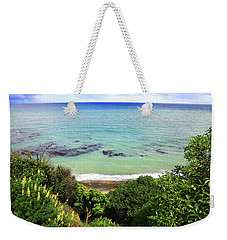 Weekender Tote Bag featuring the photograph Looking Down To The Beach by Nareeta Martin