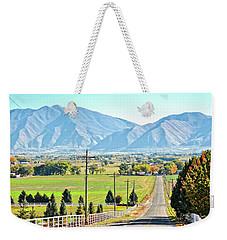 Looking East From West Mountain Weekender Tote Bag