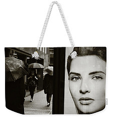 Weekender Tote Bag featuring the photograph Looking For Your Eyes by Empty Wall