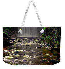 Weekender Tote Bag featuring the photograph Looking Glass Falls 009 by George Bostian