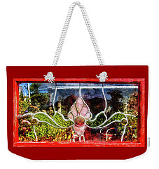 Weekender Tote Bag featuring the photograph Looking Into The Garden by Thom Zehrfeld