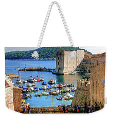 Looking Out Onto Dubrovnik Harbour Weekender Tote Bag