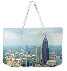 Weekender Tote Bag featuring the photograph Looking Out Over Atlanta by Mike McGlothlen