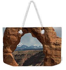 Looking Through Delicate Arch Weekender Tote Bag