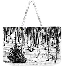 Looking Through The Aspen Black And White Weekender Tote Bag