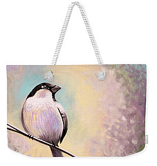 Weekender Tote Bag featuring the painting Look Toward The Light by Elizabeth Robinette Tyndall