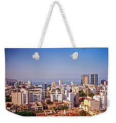 Weekender Tote Bag featuring the photograph Looking Towards The Sea - Miraflores by Mary Machare