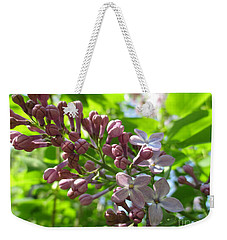 Looking Up At Lilac Weekender Tote Bag