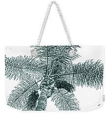 Looking Up At Palm Tree Green Weekender Tote Bag by Ben and Raisa Gertsberg