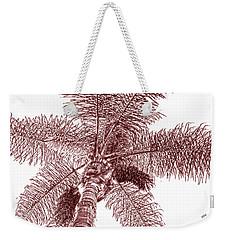 Looking Up At Palm Tree Red Weekender Tote Bag by Ben and Raisa Gertsberg