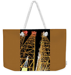 Looking Up At The Kilgore Lighted Derricks Weekender Tote Bag