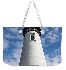 Weekender Tote Bag featuring the photograph Looking Up At The Lighthouse by Mary Jo Allen