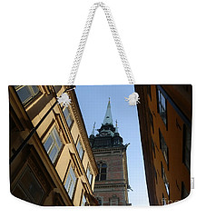 Looking Up From A Stockholm Street Weekender Tote Bag by Margaret Brooks
