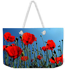 Weekender Tote Bag featuring the photograph Looking Up by Jacqueline M Lewis