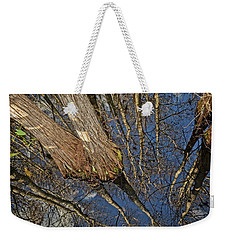Weekender Tote Bag featuring the photograph Looking Up While Looking Down by Debra and Dave Vanderlaan