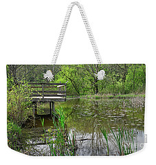 Lookout Deck In Wildlife Sanctuary Weekender Tote Bag