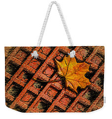 Weekender Tote Bag featuring the photograph Looks Like Another Leaf by Paul Wear