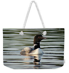 Weekender Tote Bag featuring the photograph Loon 1 by Steven Clipperton