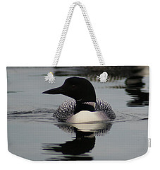 Weekender Tote Bag featuring the photograph Loon 2 by Steven Clipperton