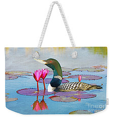 Loon And Lotus Weekender Tote Bag