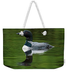 Loon Reflections On The Lake Weekender Tote Bag