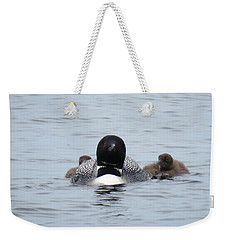 Loon With Chicks Weekender Tote Bag by Sandra LaFaut