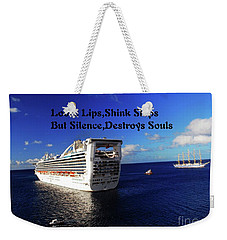 Weekender Tote Bag featuring the photograph Loose Lips by Gary Wonning