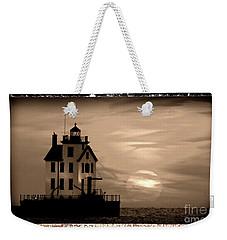 Lorain Lighthouse - Lake Erie - Lorain Ohio Weekender Tote Bag