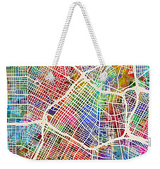 Los Angeles City Street Map Weekender Tote Bag