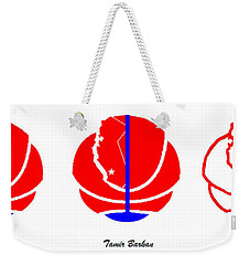 Weekender Tote Bag featuring the digital art Los Angeles Clippers Logo Redesign Contest by Tamir Barkan