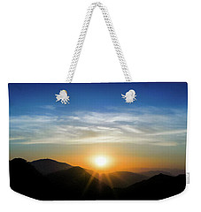 Weekender Tote Bag featuring the photograph Los Angeles Desert Mountain Sunset by T Brian Jones