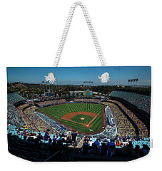Weekender Tote Bag featuring the photograph Los Angeles Dodgers Dodgers Stadium Baseball 2043 by David Haskett