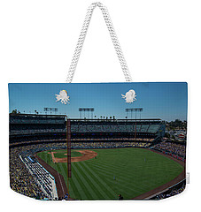 Weekender Tote Bag featuring the photograph Los Angeles Dodgers Dodgers Stadium Baseball 2063 by David Haskett