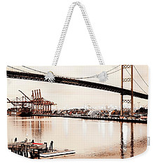 Los Angeles Harbor In Sepia Weekender Tote Bag